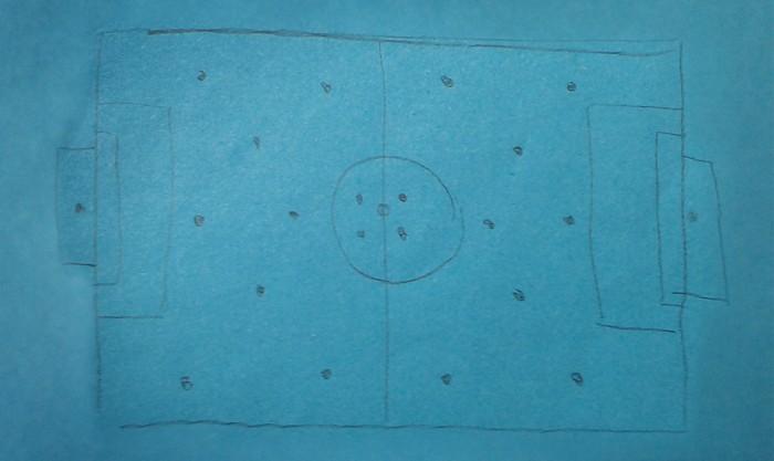 Spielfeld Bleistift Fußball
