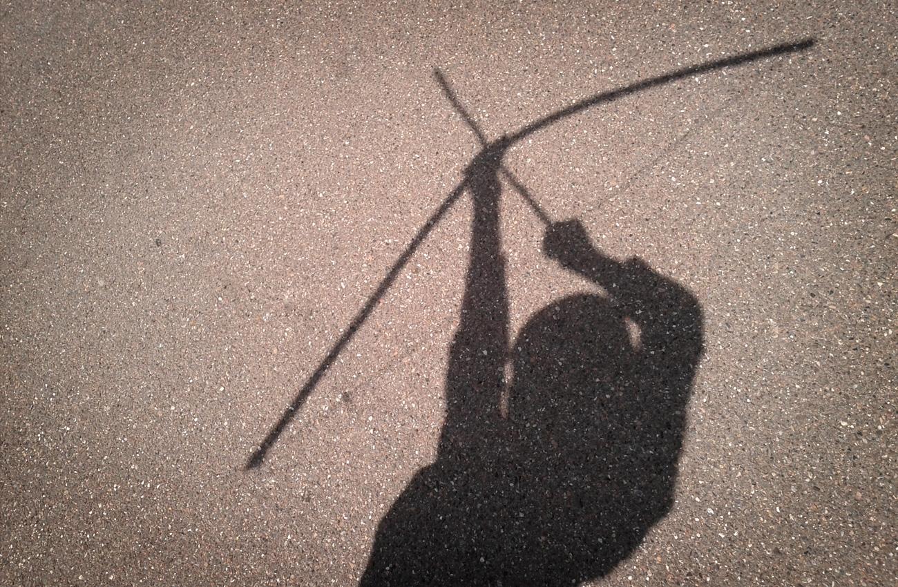 Pfeil und Bogen Schattenbild