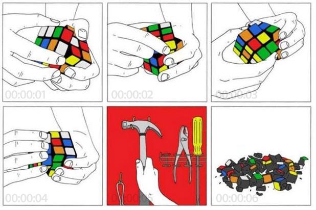 Rubik´s Cube in 6 Sekunden lösen
