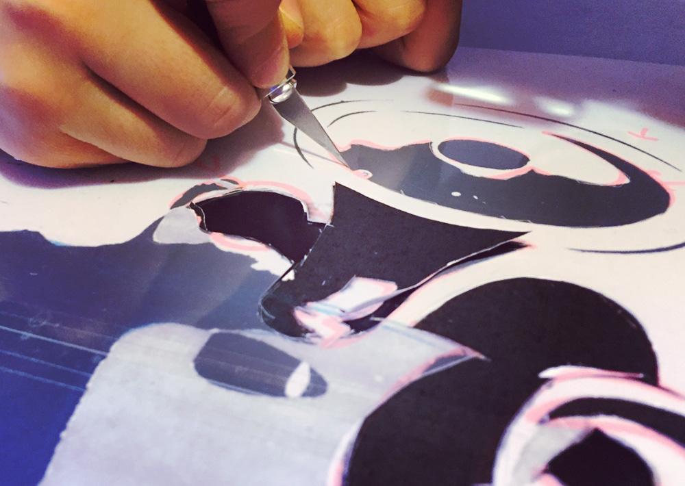 minions schablne stencil ausschneiden cutter messer