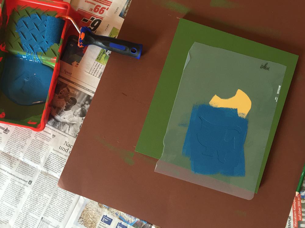 minions schablone stencil farbe blau