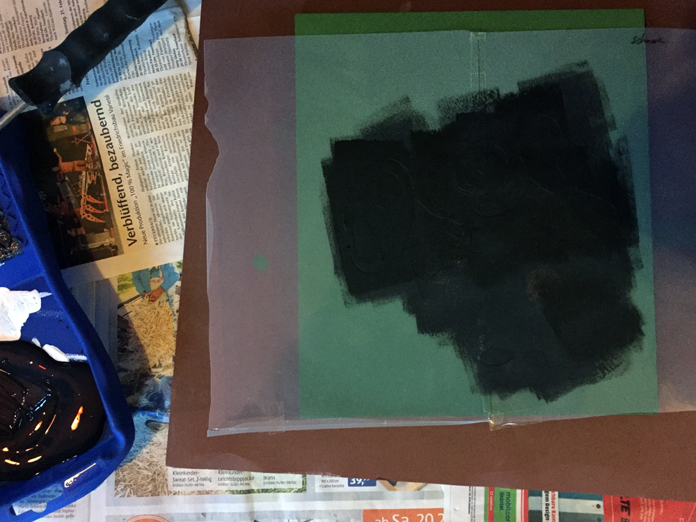 minions schablone stencil farbe schwarz